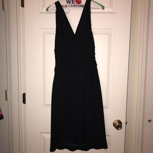 Jones Wear black backless halter top dress